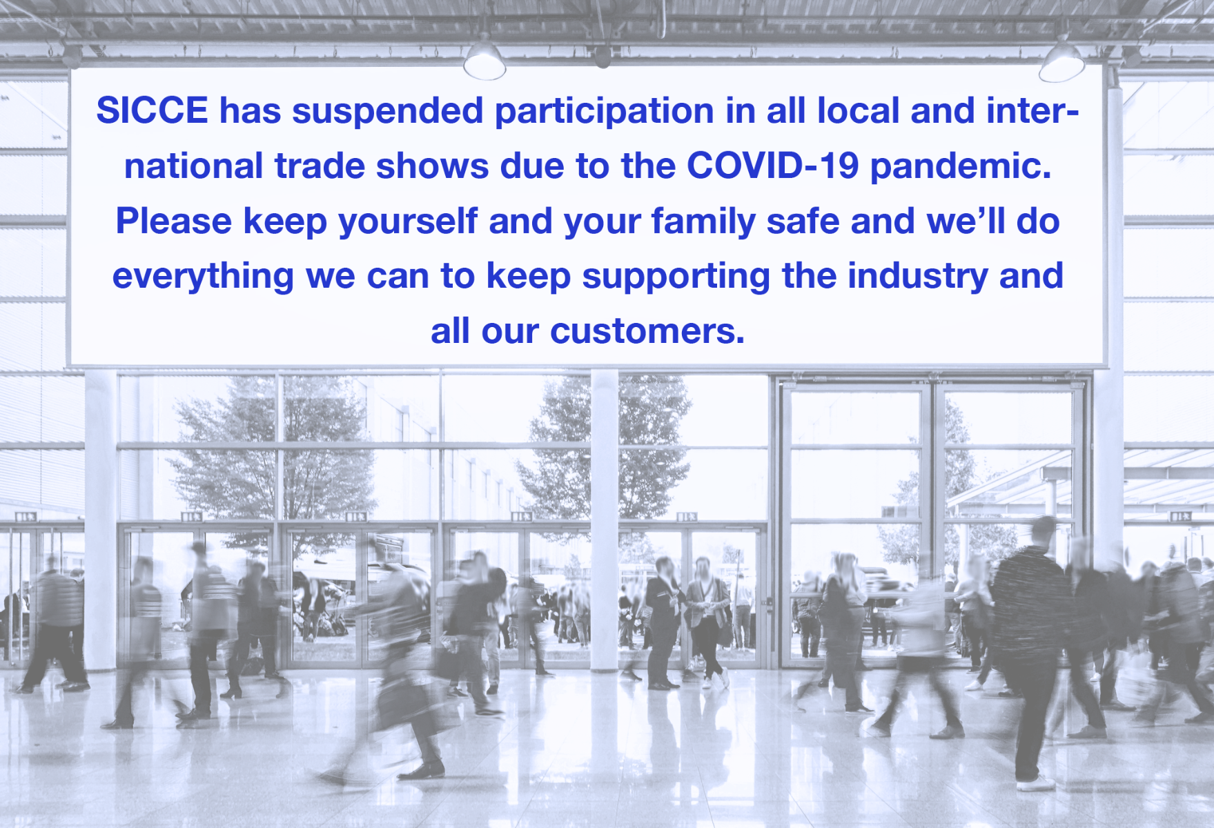 tradeshow suspension