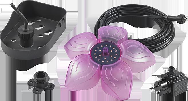 Fiore galleggiante faretto laghetto Sicce mod FLOWER LED PLUS inclusa POMPA